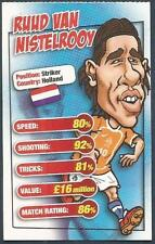 MATCH MAGAZINE SOCCER STAR CARICATURE CARD-HOLLAND-RUUD VAN NISTELROOY