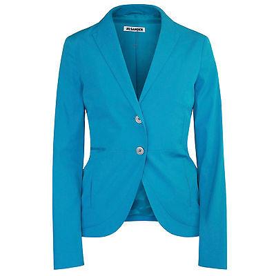 JIL SANDER $1560 teal blue casual cotton nylon blazer sport jacket 36-F/4-US NEW