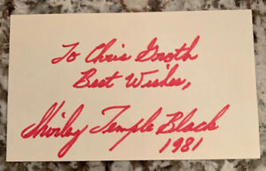 SHIRLEY-TEMPLE-HAND-SIGNED-3X5-INDEX-CARD-Signed-PSA-PSA-DNA-1981-To-Chris