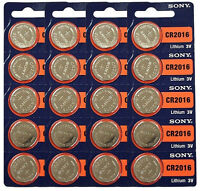 20 Sony Cr2016 2016 3v Lithium Coin Size Batteries