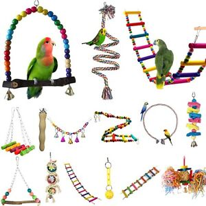 Colorful-Parrot-Swing-Bird-Toy-Rope-Harness-Cage-Toys-Parakeet-Cockatiel-Budgie