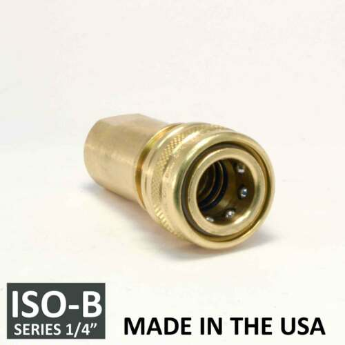 """6 Sets 1//4/"""" ISO-B Hydraulic Hose Quick Disconnect Couplers Plug ISO 7241-1 B"""
