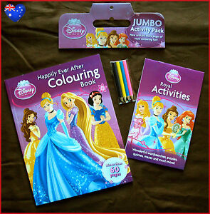 Image Is Loading DISNEY PRINCESS Colouring Book Amp Activity Pack Set