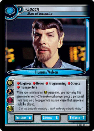 Mint//Near Mint Star Trek 2E: Spock Man Of Integrity In a Mirror Darkly STCCG