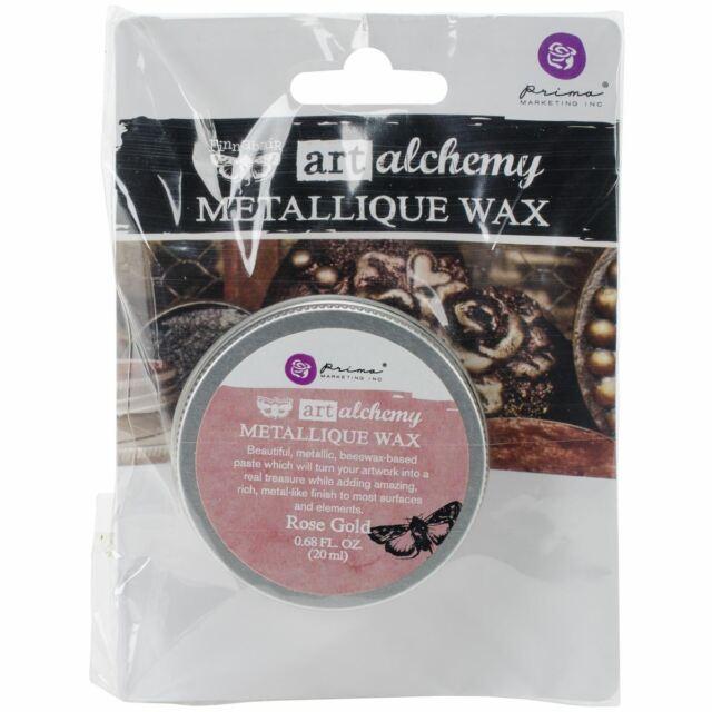 Finnabair Art Alchemy Metallique Wax .68 Fluid Ounce-Rose Gold -AAMW-63972