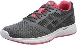 ASICS PATRIOT 10 Femmes Chaussures De Course Fitness Gym Baskets Gris-UK 8/EU 42