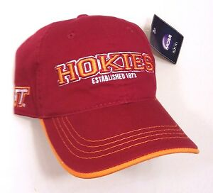 newest collection 708fe 922ba Image is loading new-VIRGINIA-TECH-HOKIES-1872-HAT-Dark-Red-