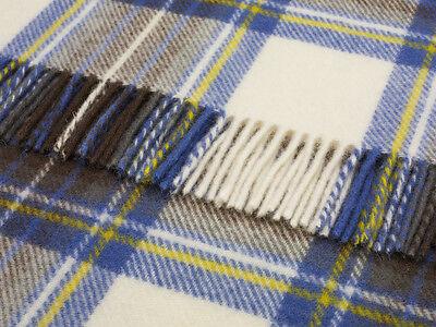 Pure new wool tartan sofa throw rug picnic blanket by BRONTE CAMEL STEWART