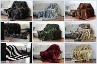 Sale Blanket / Throw Toscana 100% Wool Shearling Sheepskin Rug Perfect For Gift