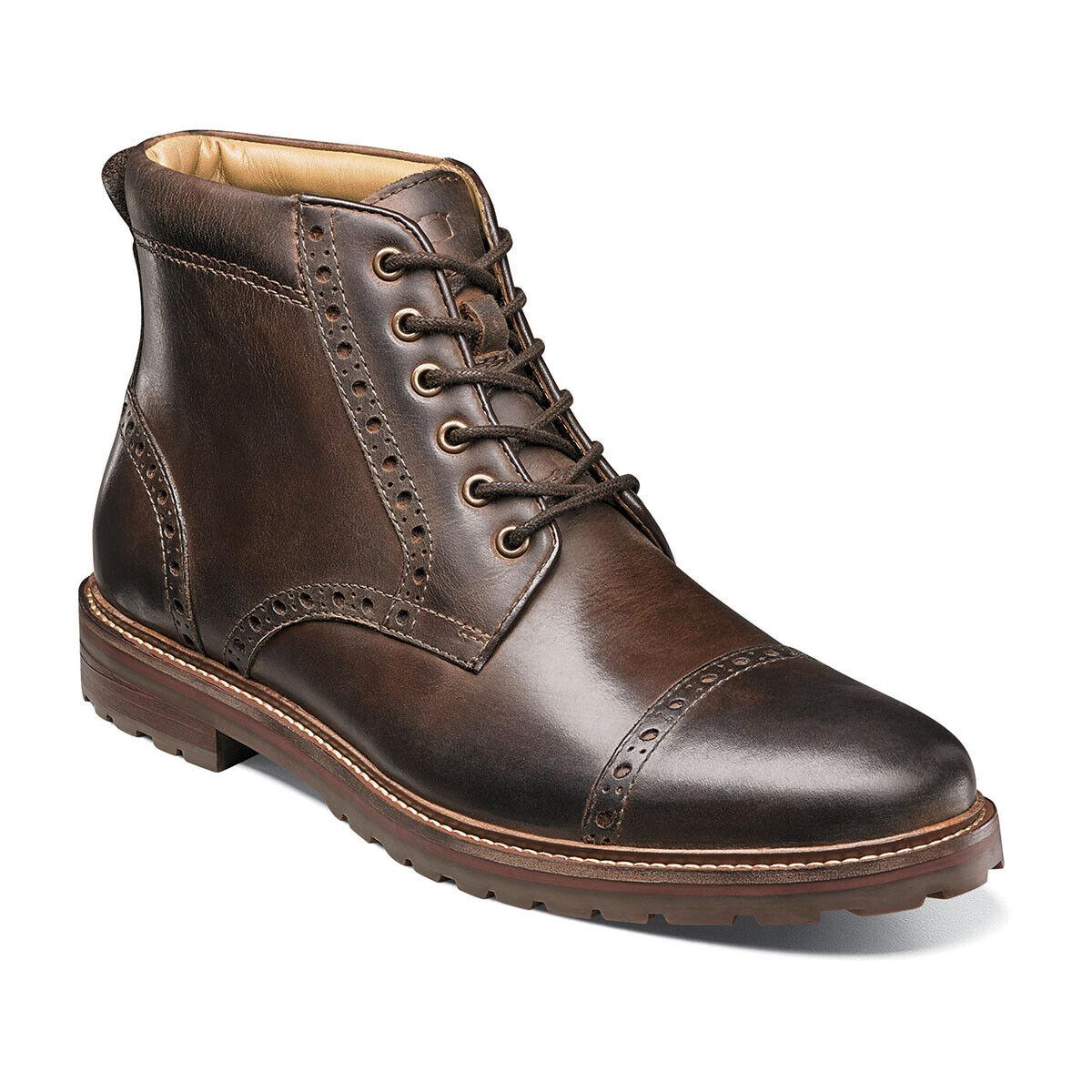 d2daca29c03 Estabrook Puntera Arranque Hombre Zapatos Marrón Volteado Ch 14196-215  Florsheim Cuero nnwcut933-Botas