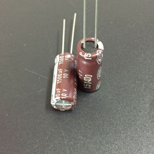 10pcs 1500uF 10V LTEC LTG  10V1500uF Electrolytic Capacitor 8x20mm