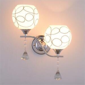 Modern Led Crystal Small Wall Lamp Wall Sconce Light Bedroom Bedside Lighting Ebay