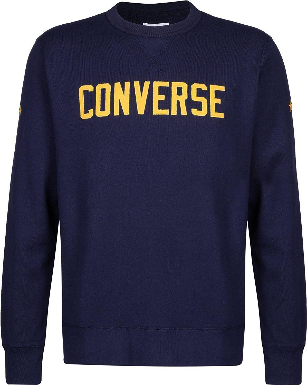Converse felpa uomo essential graphic graphic graphic art. 10005811-A04 col. blu 0da560