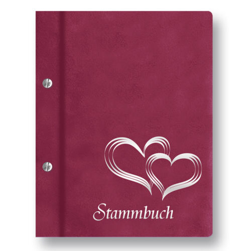 Stammbuch Glamour A4 fuchsia Familienbuch Stammbuch der Familie Dokumentenbuch