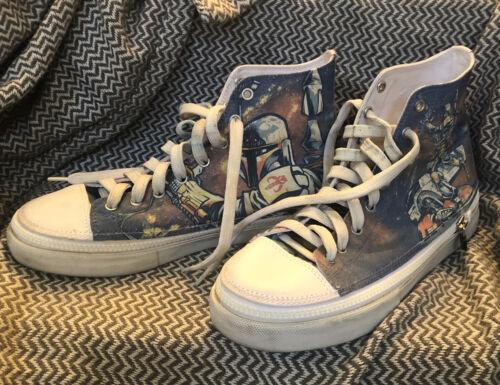 Shoefury Zipz Star Wars Boba Fett Shoes M9 W11 RAR