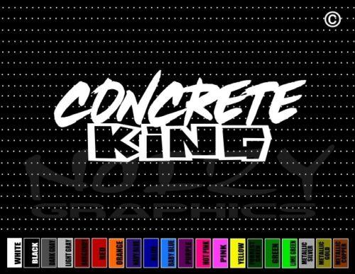 Concrete King Street Racing Illest JDM Muscle Car Decal Window Vinyl Sticker