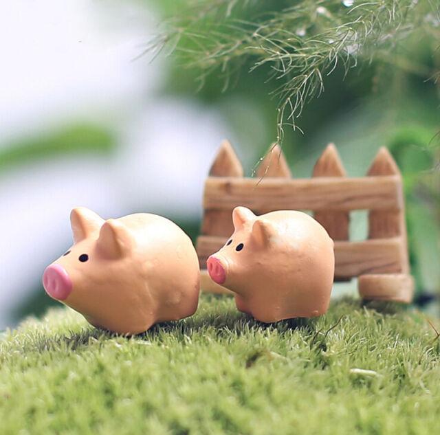 Miniature Landscape Bonsai Craft Garden Ornament for Pig Plant Pots Fairy Garden