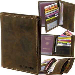 grosse-Herren-Brieftasche-Geldboerse-J-JONES-Portemonnaie-Geldbeutel-Geldtasche