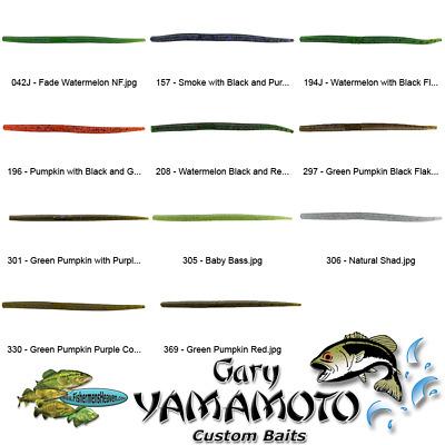 Yamamoto Senko 9P-10-305 Baby Bass 5 Inch Drop Shot Pro Senko Lures 10 Per Pack