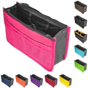 158223bef360 Women Lady Travel Insert Handbag Organiser Purse Large Organizer Bag ...