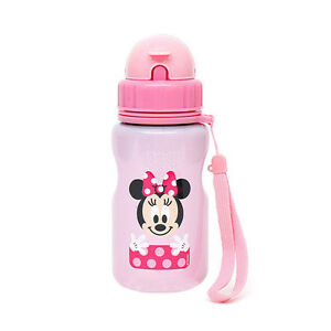 Minnie Mouse Cute Kids Water Bottle Straw Stainless