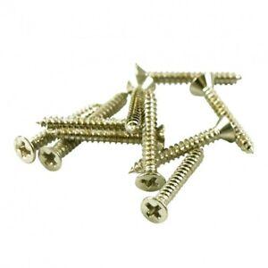 4x Nickel Long Humbucker Mounting Ring Screws For Bridge Position 2 X 3/4 IN