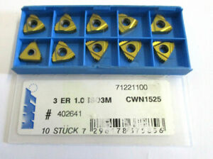 10-Thread-Indexable-Inserts-3ER-1-0-ISO3M-CWN1525-from-Wnt-New-H30907