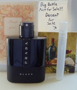 b637dde14f999 Prada Luna Rossa Black Eau de Parfum~10ml Decant Travel Atomizer+ ...