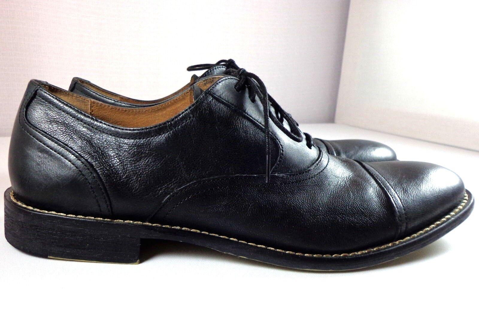 Joseph Abboud Mens Black Leather Dress Oxfords Size 8.5 Cap Toe Shoes