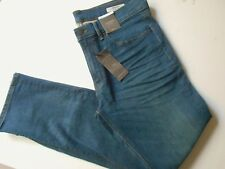 M/&S Limited Edition Skinny Fit Ankle Grazer Laser Stripe Stretch Med Blue Jeans