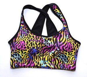 f142daae53cdf Sports Crop Top Leopard Print S M L Padded Sports Bra Gym Womens ...