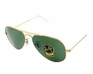 rb3025 55 aviator  New Ray-Ban Sunglasses, RB3025 55 Aviator Men Gold tone metal ...