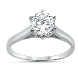 6MM-Round-Solitaire-Cubic-Zirconia-925-Sterling-Silver-Ring-Sizes-4-10