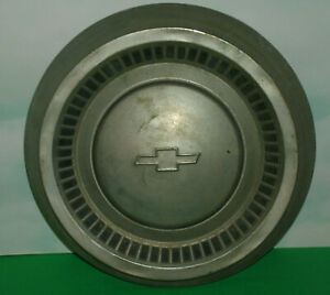 Vintage 1960 S Chevrolet Car Hubcap 10 5 Chrome Dog Dish Classic Wheel Hub Cap Ebay