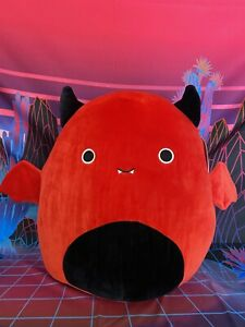 """NWT 16"""" Dante the Red Demon Rare Halloween 2021 Squishmallow 