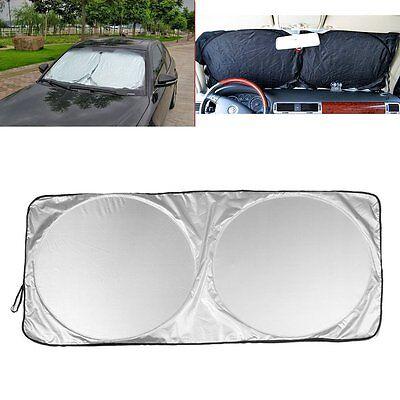 Folding Jumbo Front Rear Car Window Sun Shade Windshield Auto Visor Block Cover
