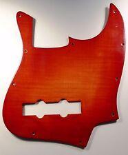 NEW PICKGUARD JAZZ BASS - Bois flammé plastifié rouge  - pour Fender, Squier etc