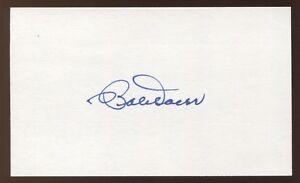 Bobby Doerr Signed 3x5 Index Card Vintage Autographed Signature Baseball HOF Bob