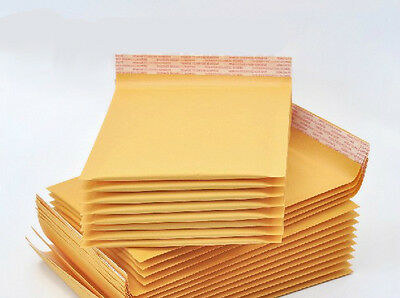 50 x Kraft Bubble Envelopes Padded Mailers Shipping Self-Seal Bags 148x229mm