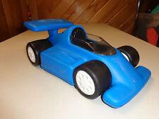 LITTLE TIKES  LARGE BLUE STURDY RACE CAR   LITHO WEAR