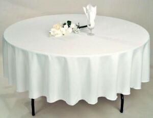 12-PACKS-72-034-inch-ROUND-Tablecloth-Polyester-WEDDING-PARTY-Cover-21-COLORS-USA