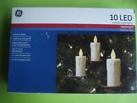 Ge Christmas Candle Led String Lights Victorian Style Clip 18 Ft