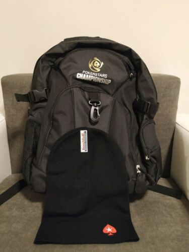 Poker Stars Backpack with a hat in the price