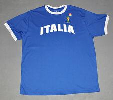 "NWOT FIFA 2014 World Cup Brasil Mens ""ITALIA"" Italy Blue Jersey Tee T-Shirt XL"
