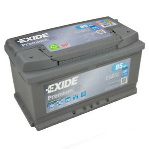 exide premium carbon ea852 85ah 800a autobatterie ersetzt 85ah 80ah 95ah neu ebay. Black Bedroom Furniture Sets. Home Design Ideas