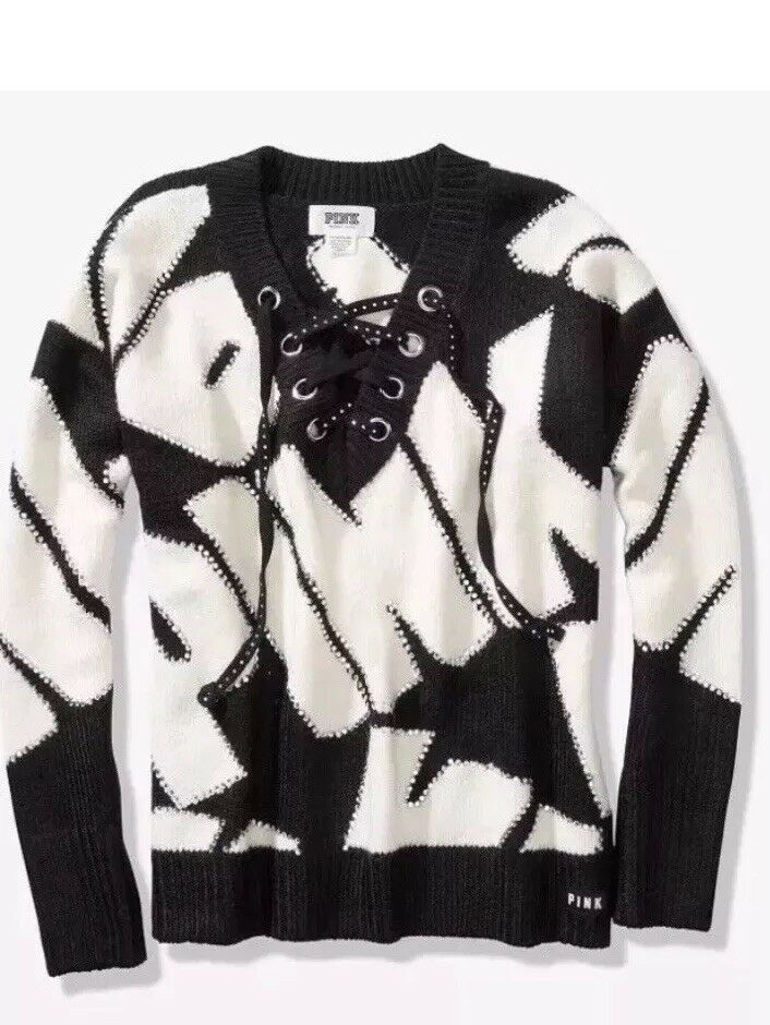 NEW Victorias Secret Fashion Show PINK Sweater Bling Exclusive  XS