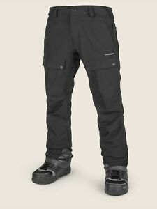 2019-NWT-MENS-VOLCOM-PAT-MOORE-SNOW-PANTS-XL-black-modern-relaxed-fit