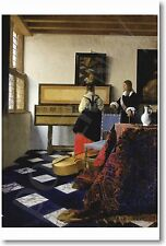 The Music Lesson by Dutch Master Johannes Vermeer 1665 - NEW Art Print POSTER