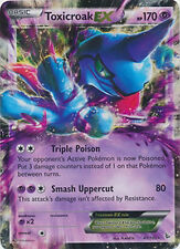 Pokemon XY Flashfire Toxicroak EX 41/106 Rare Holo ex Card