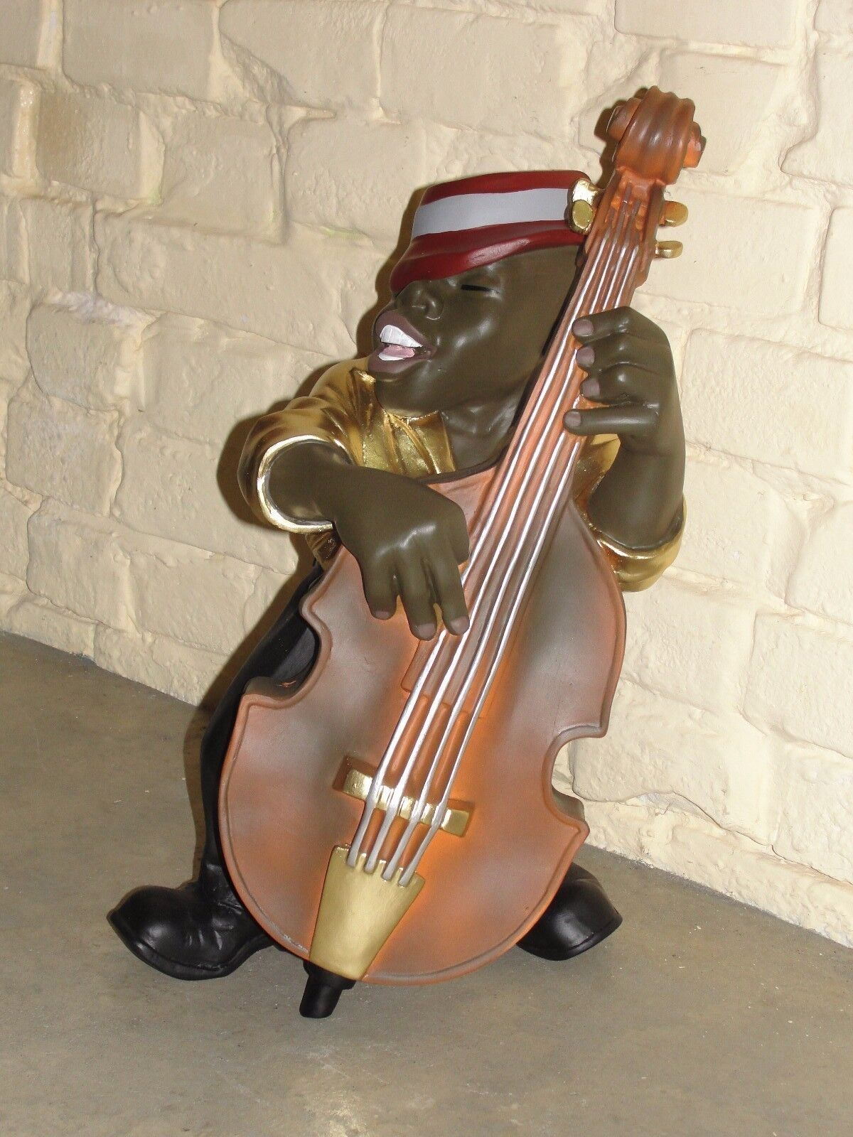 Sänger Bassist Figur Jazz Musiker Skulptur Jazzfigur Afrika  Musik Werbefigur